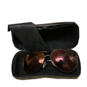 Red Chanel aviator sunglasses